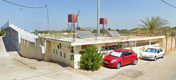 Overlooking Perivolia Stadium