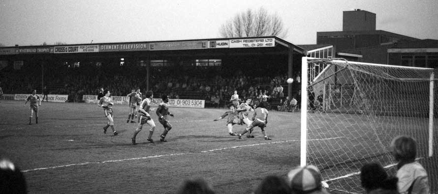 Black and White Image of Plough Lane
