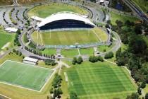Aerial view of North Harbour Stadium
