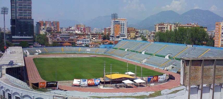 Overlooking Qemal Stafa Stadium