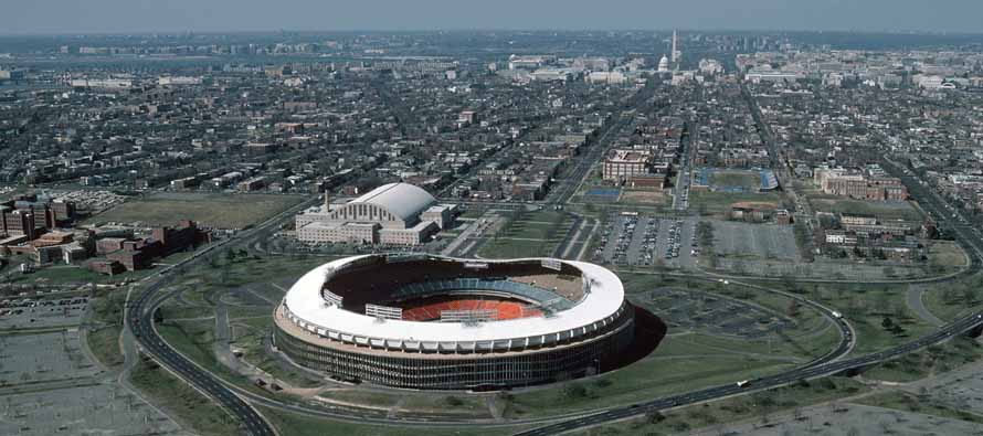 Aerial View of RFK Stadium Aerial