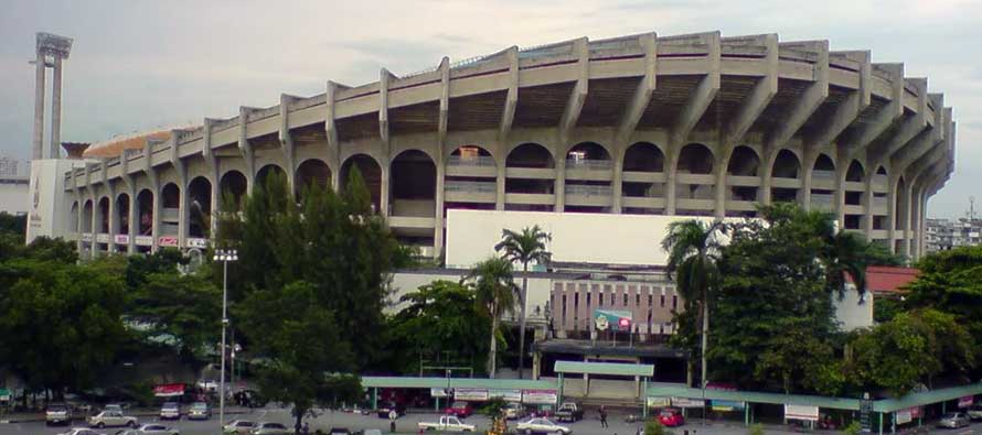Exterior of Thailand's national stadium