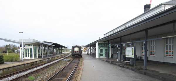 Platform at Randers Station