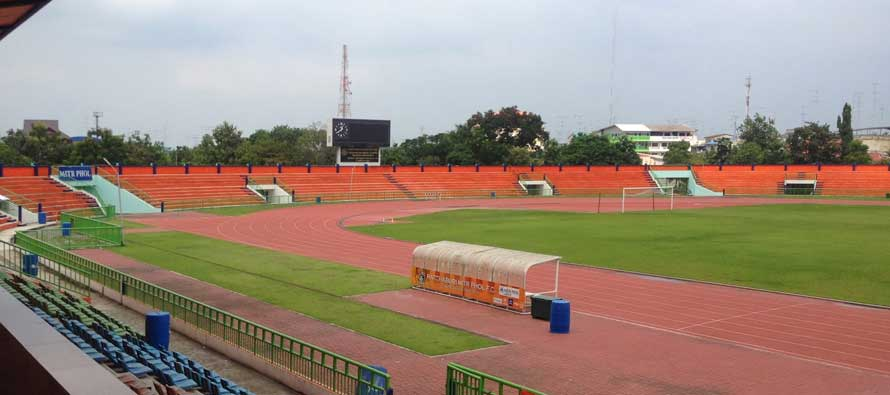 Inside an empty Ratchaburi Stadium