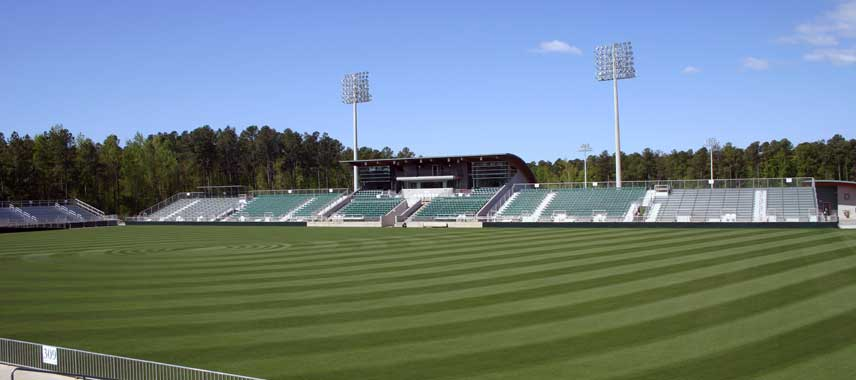 The pitch at WakeMed Soccer Park