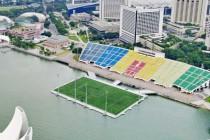 Aerial view of SG Marina Bay Float Stadium