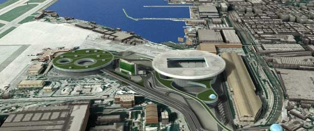 Aerial view of proposed Sampdoria stadium