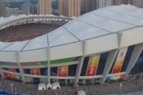aerial view shanghai stadium