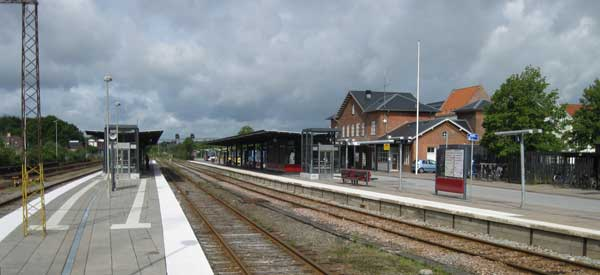 Main platform of Silkeborg Station