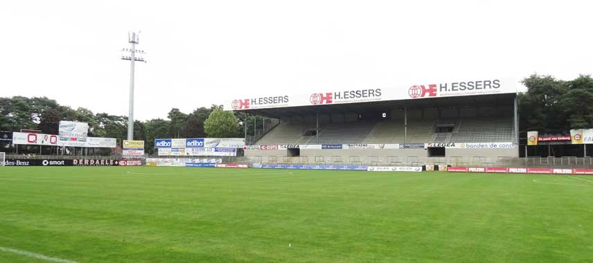 Main stand at Soeverein Stadion in Lommel