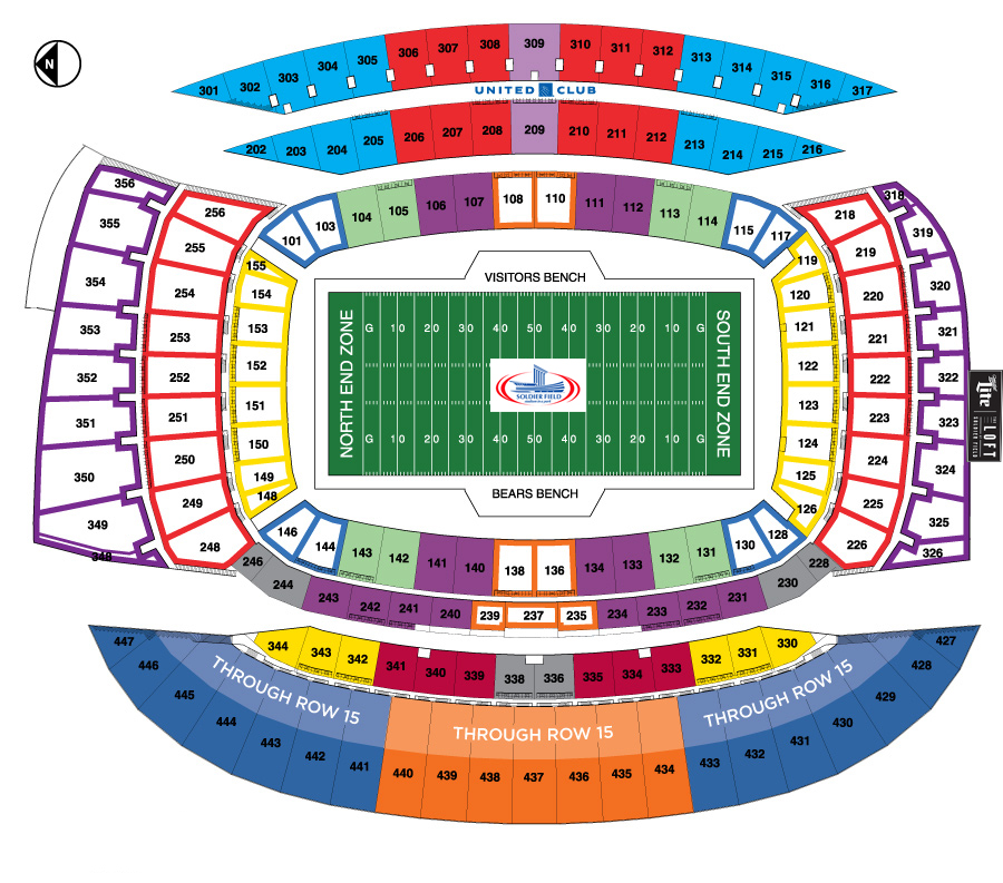 Soldier Field Seating Plan