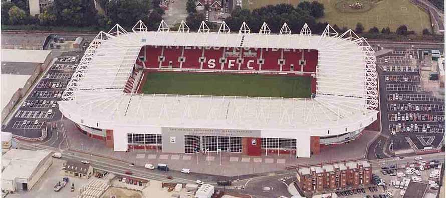 Aerial View of St Marys Stadium