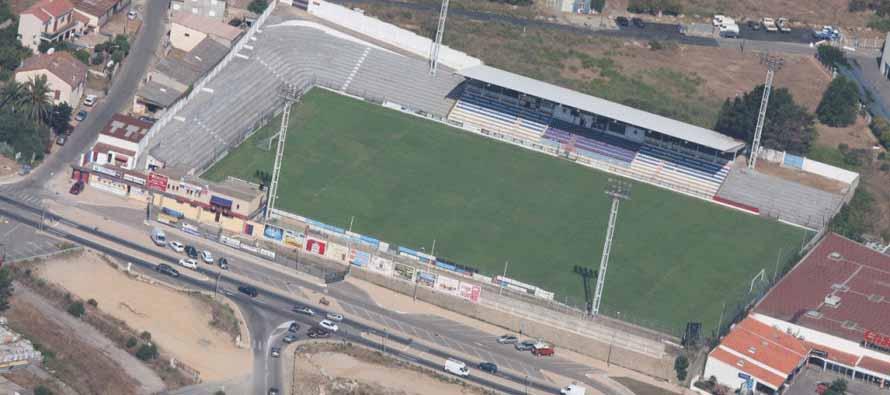 stade ange casanova aerial view