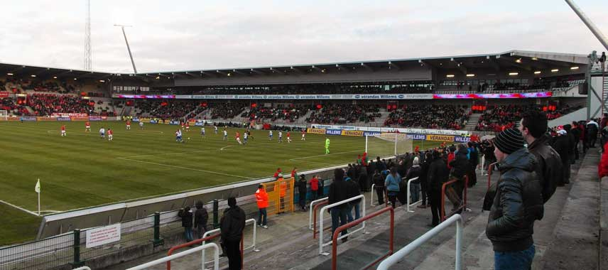Inside Stade Charles Tondreau on matchday