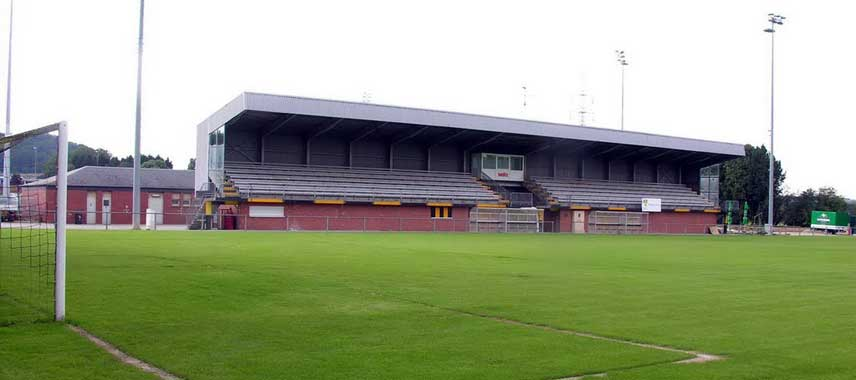 The main stand of Stade Jos Haupert