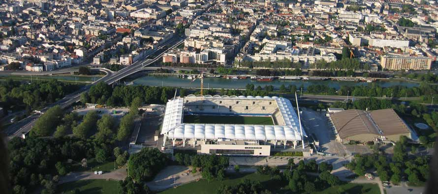 Aerial view of Stade Auguste Delaune