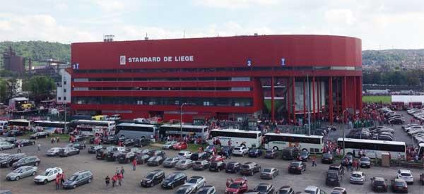 Exterior view of Standard Liege's stadium