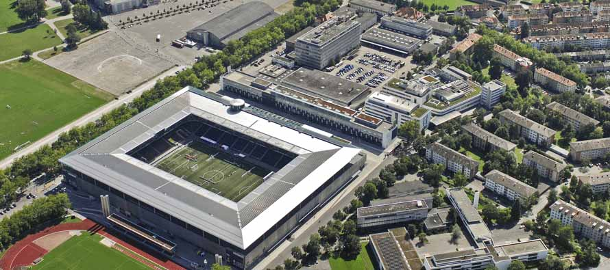 aerial view stade de suisse