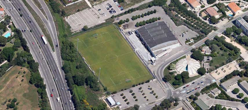 Aerial view of Stade de la Martine