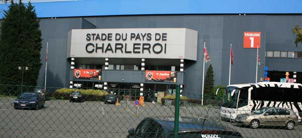 Charleroi stadium sign