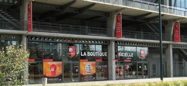 Exterior of Stade Rennias club shop