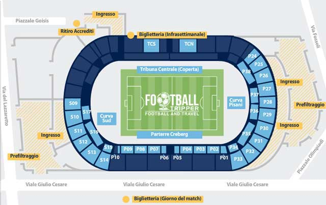 stadio atleti azzuri d'italia Seating Plan