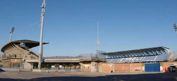 The exterior of Stadio Castellani.