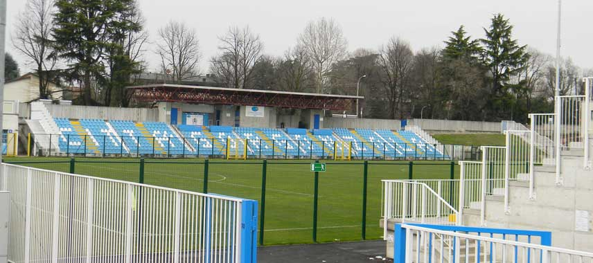 The main stand of Gorgonzola's municipal stadium