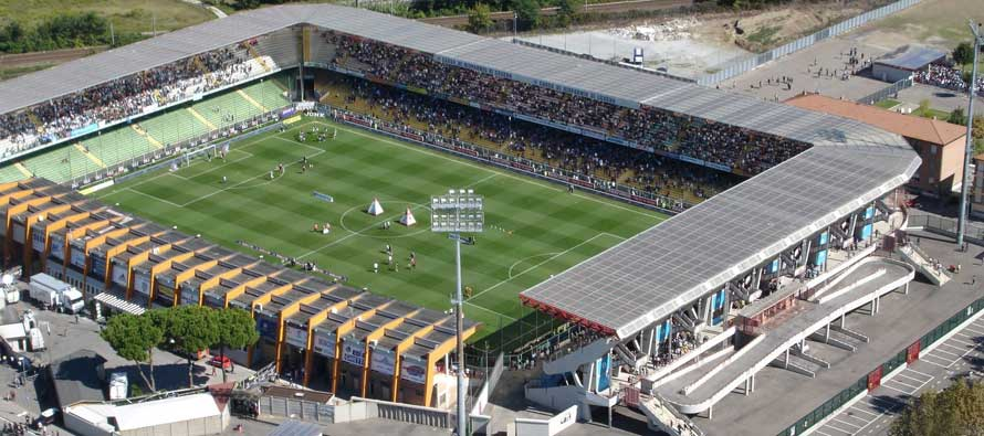 Aerial view of Stadio Dino Manuzzi