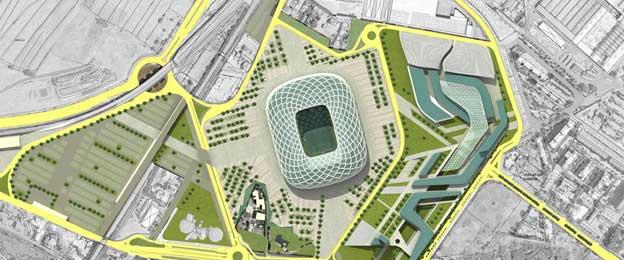 Aerial view of Stadio Fiorentina