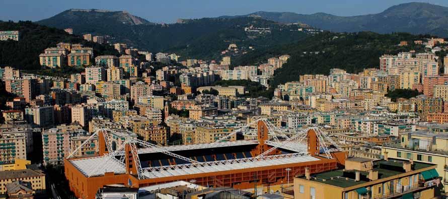 Aerial view of Stadio Luigi Ferraris