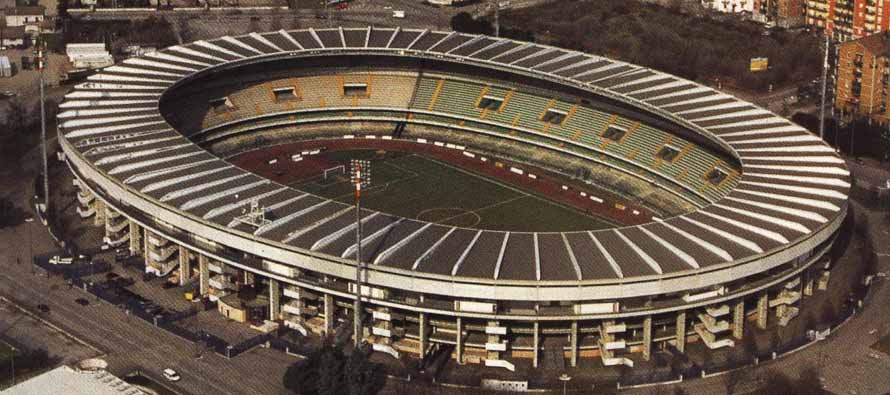 Aerial View of Stadio MarcAntonio Bentegodi