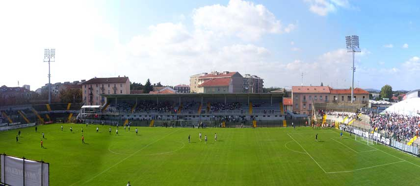 The main stand of Stadio Alessandria