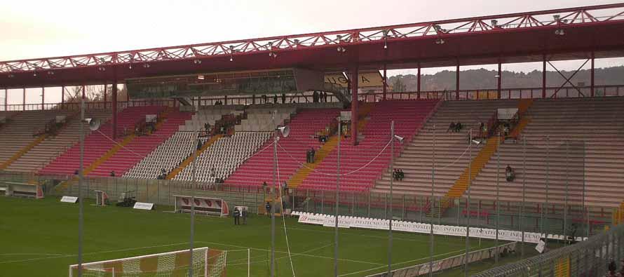 stadio renato curi main stand