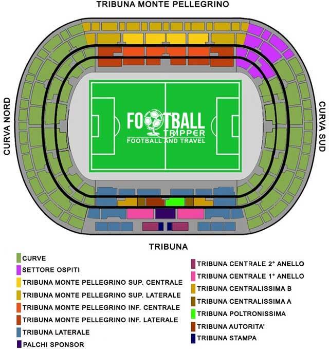 stadio renzo barbera Seating Plan