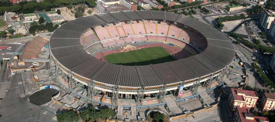 Aerial view of Stadio San Paolo