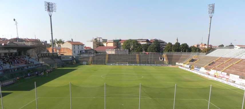 Goalmouth view of Stadio Giovanni Zini