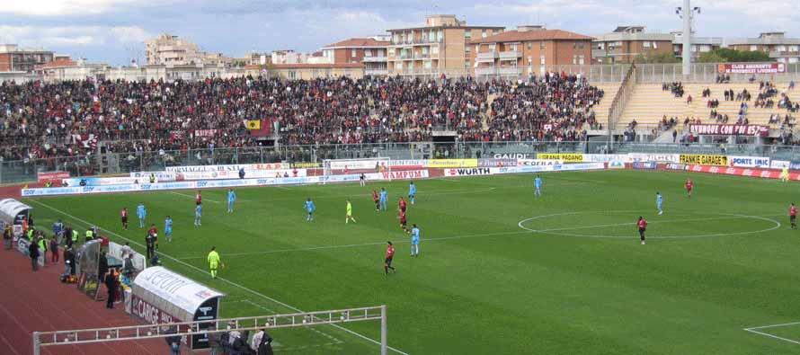 Inside Stadio Armando Picchi on matchday