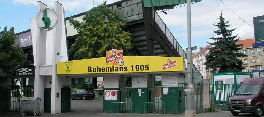 Stadion Bohemians 1905 Dolicek entrance