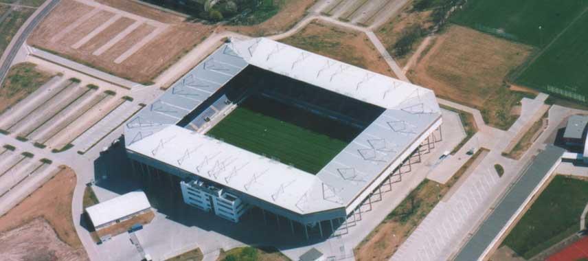 Aerial view of Stadion Magbeburg