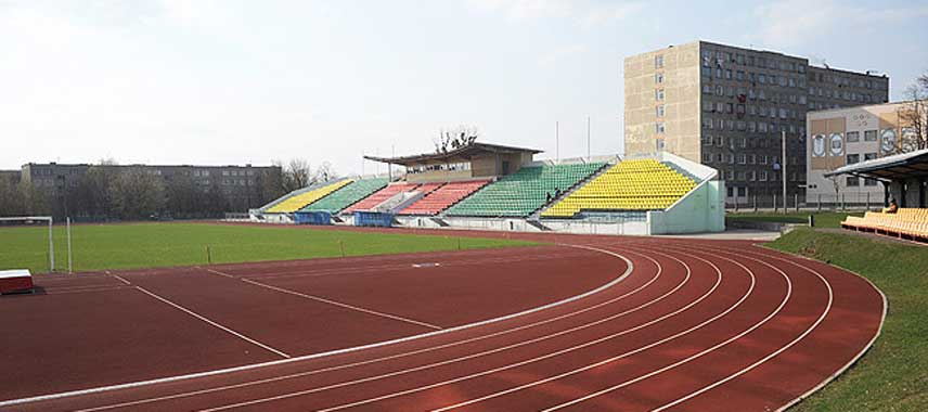 Main stand of Sparkak Stadium in Bobruisk