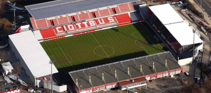 aerial view of stadion der freundschaft