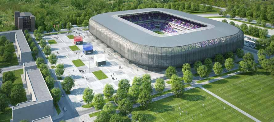 Aerial view of Stadion Ernest Pohl Redevlopment