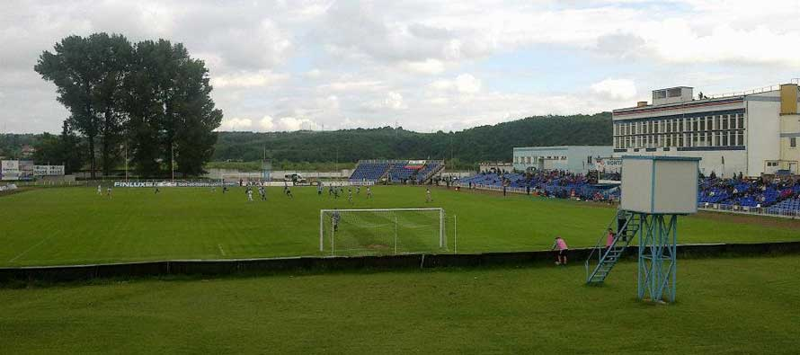 The pitch at Stadion Ogosta