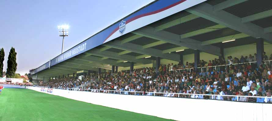 Fans inside Stadion Wiener Neustadt