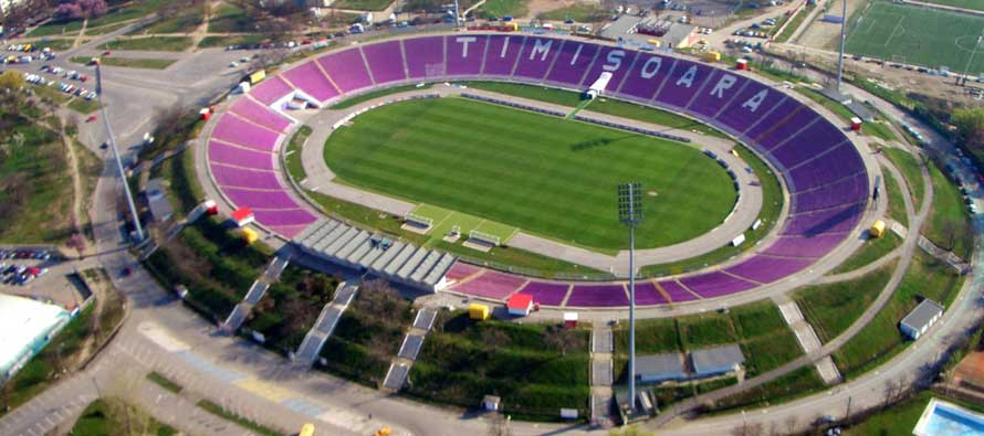 Aerial view of Dan Paltinisanu stadium