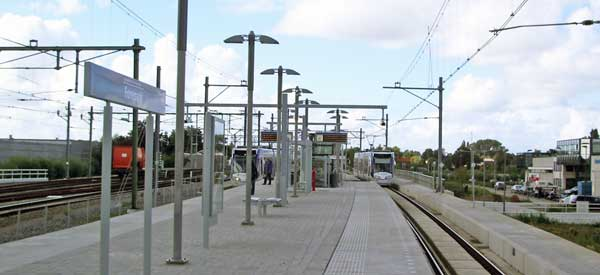 The platform of the Forepark Station