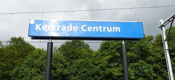 Kerkrade station sign