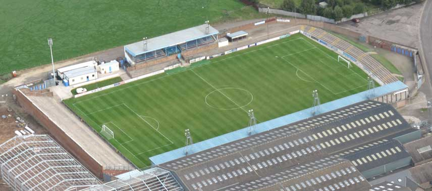 Aerial view of Station Park in Forfar