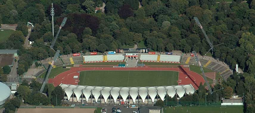 Aerial view of Steigerwaldstadion